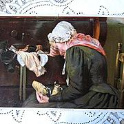 Antique Grandmother Deceased Child Print Tender Memories Half Yard Long