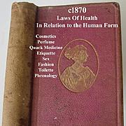 Antique Laws of Health Book c1870 Napheys Etiquette Toilette Cosmetics Sex