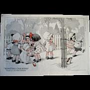 Baby Print C Twelvetrees Gossiping Babies Pull Toy