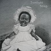 Negro Baby Black Americana Sunlight Soap Print