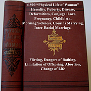 c1890 Physical Life of Woman Book Sex Pregnancy Love Abortion Napheys Near Fine