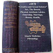 Creative and Sexual Science Book c1870 First Edition Scientific Quack Medicine Fowler Antique