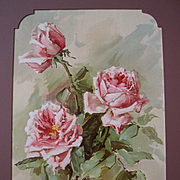Antique Roses Print Mc Lennan Listed Artist Chromolithograph Victorian