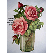 Roses Die Cut Valentine Print