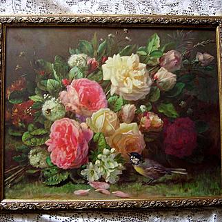 Sale 40% Off Roses Print Jean Baptiste Robie Fragrance in Bloom Vintage