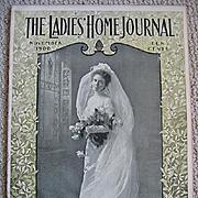 1900 Antique Bride Ladies Home Journal Magazine Paris Art Fashiion Dress Bridal Millinery Fashion Print