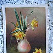 Antique Daffodils Print Chromlithograph Atkinson