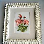c1890s Catherine Klein Antique Roses Print