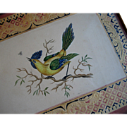c1860 Bird Butterfly Painting Butterfly Pre Civil War