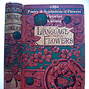 c1884 Language of Flowers Book Kirtland