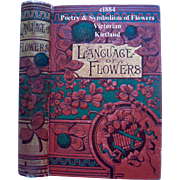 c1884 Language of Flowers Book Kirtland