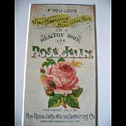 Antique Rose Jelly Framed Fashion Booklet Chromolithograph Print Adirondack