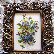 Antique Violets Print Catherine Klein Chromolithograph