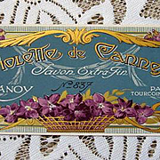 Antique Violets Perfume Label Print French