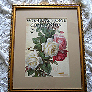 Antique Roses Print Paul de Longpre Magazine Womans Home Companion