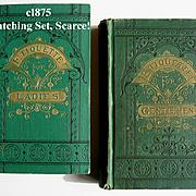 Pair c1875 Etiquette Book s Hartley Ladies Gentlemens Manual of Politeness Antique Victorian