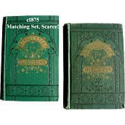 Pair c1875 Etiquette Book s Hartley Ladies Gentlemens Manual of Politeness Antique Victorian