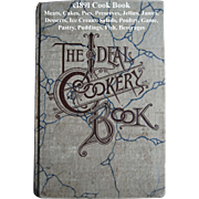 c1891 Ideal Cookery Book Cook Book Antique Victorian Breakfast Lunch Tea Recipes Food