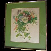 Paul de Longpre Morning Glories Print Vintage