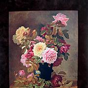 Paul de Longpre Antique Roses Print c1909