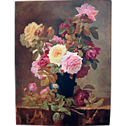 Paul de Longpre Antique Roses Print c1909
