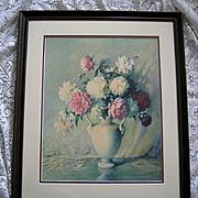 Vintage Peony Print Carle Blenner