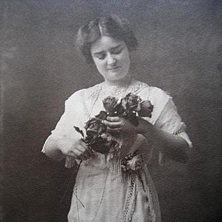 Lady Rose Photograph Print Edwardian Antique Rosary