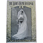 c1900 Antique Bride Ladies Home Journal Magazine Paris Art Fashion Dress Bridal Millinery Print