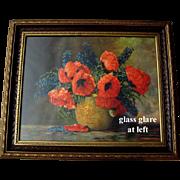 Poppies Delphiniums Print Max Streckenbach Large All Original