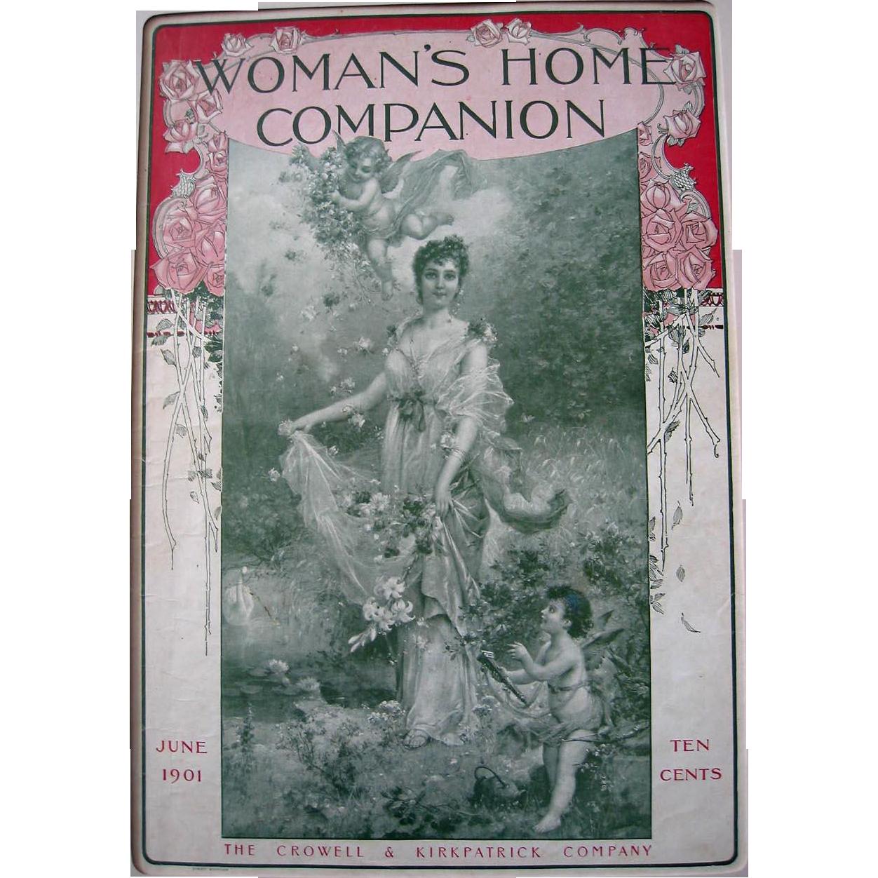 Antique Lady Cupid Print Hans Zatzka Roses