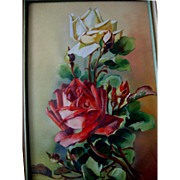 Roses Painting Vintage after Catherine Klein