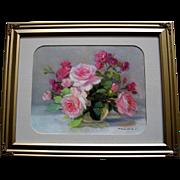 Roses Print Vintage Pierre Laurent Baeschlin