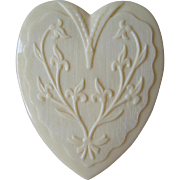 Coro Heart Jewelry Box Celluloid Ring
