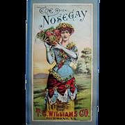 Antique Lady Corset Roses Print Victorian Tobacco Label Advertisement Chromolithograph T C Williams Co