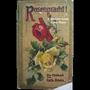Catherine Klein Roses Print Book Rosenpracht c1911 Six Color Plates Antique
