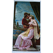 Antique Romeo and Juliet Half Yard Long Print