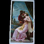 Antique Romeo and Juliet Half Yard Long Print