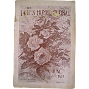 c1893 Roses Ladies Home Journal Magazine Millinery Fashion Needlework Rose Bicycle Antique Victorian