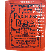 Lees Priceless Recipes Book Science Cook Book Perfume Coffee Chocolate Animal Household Formulations