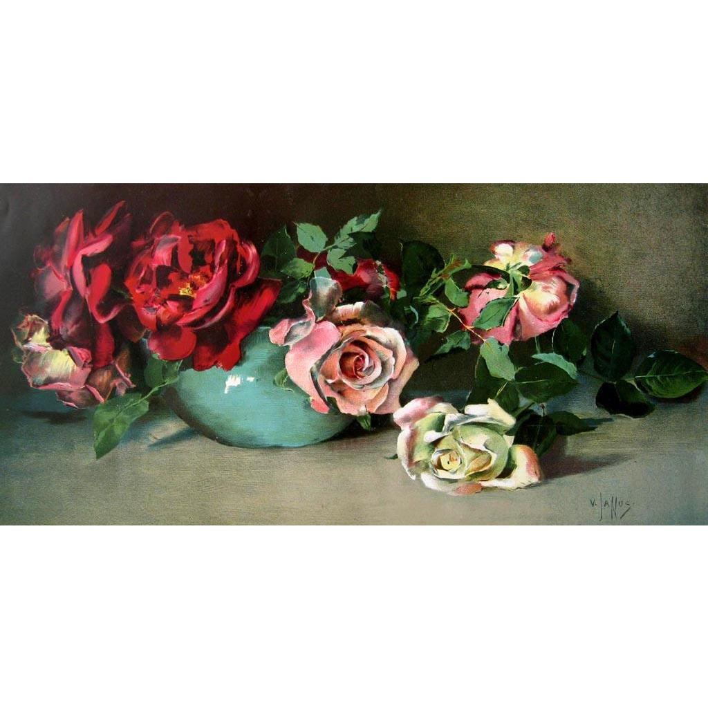 Antique Roses Print Virginia Janus Half Yard Long