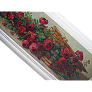 Antique Roses Oil Painting Yard Long