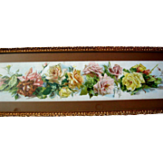 Antique Roses Print C Klein Yard Long A Shower of Roses Original Frame Chromolithograph Catherine Klein