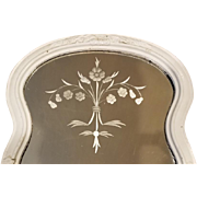 c1910 Mirror Shabby Etched Glass Back Intact or Tray