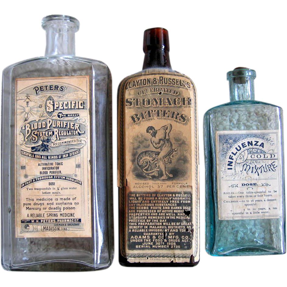 17 Piece c1800s Quack Medicine Bottle Box Collection Heroin Drugs Disease Narcotic Potions Balm Powder Soap Pills Tinctures Remedies Breast Influenza Constipation Rheumatism Bitters Poison Antique Victorian