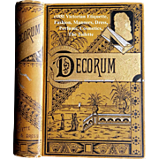 Antique Etiquette Book Decorum Near Fine Beauty Fashion Wedding Home Manners Culture Dress The Toilette Cosmetics Deportment Quack Medicine Language of Flowers