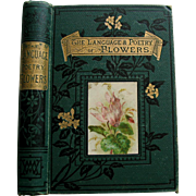 Language Poetry Flowers Book Color ROSES Sweet Peas Flower Print Illustrations Ward Gardening Horticulture