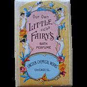 Little Fairys Bath Bar Perfume Soap c1920 Fairy Lady Butterfly Lincoln Chemical Company Whole Bar All Intact
