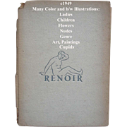 c1949 Renoir Book Lady Cupid Nude Children Nude Genre Print s Bookplates