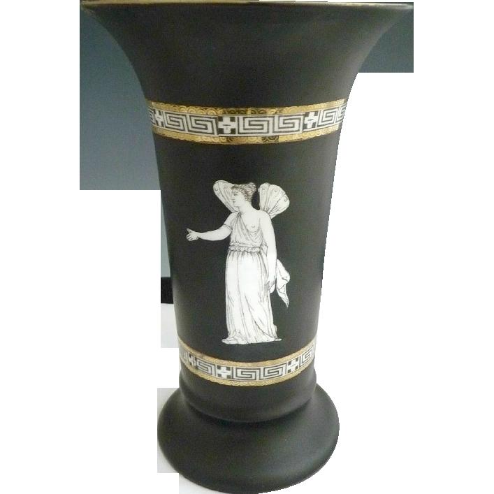 Royal Bayreuth  porcelain vase nudes fairy Corinthian Ware c. 1902