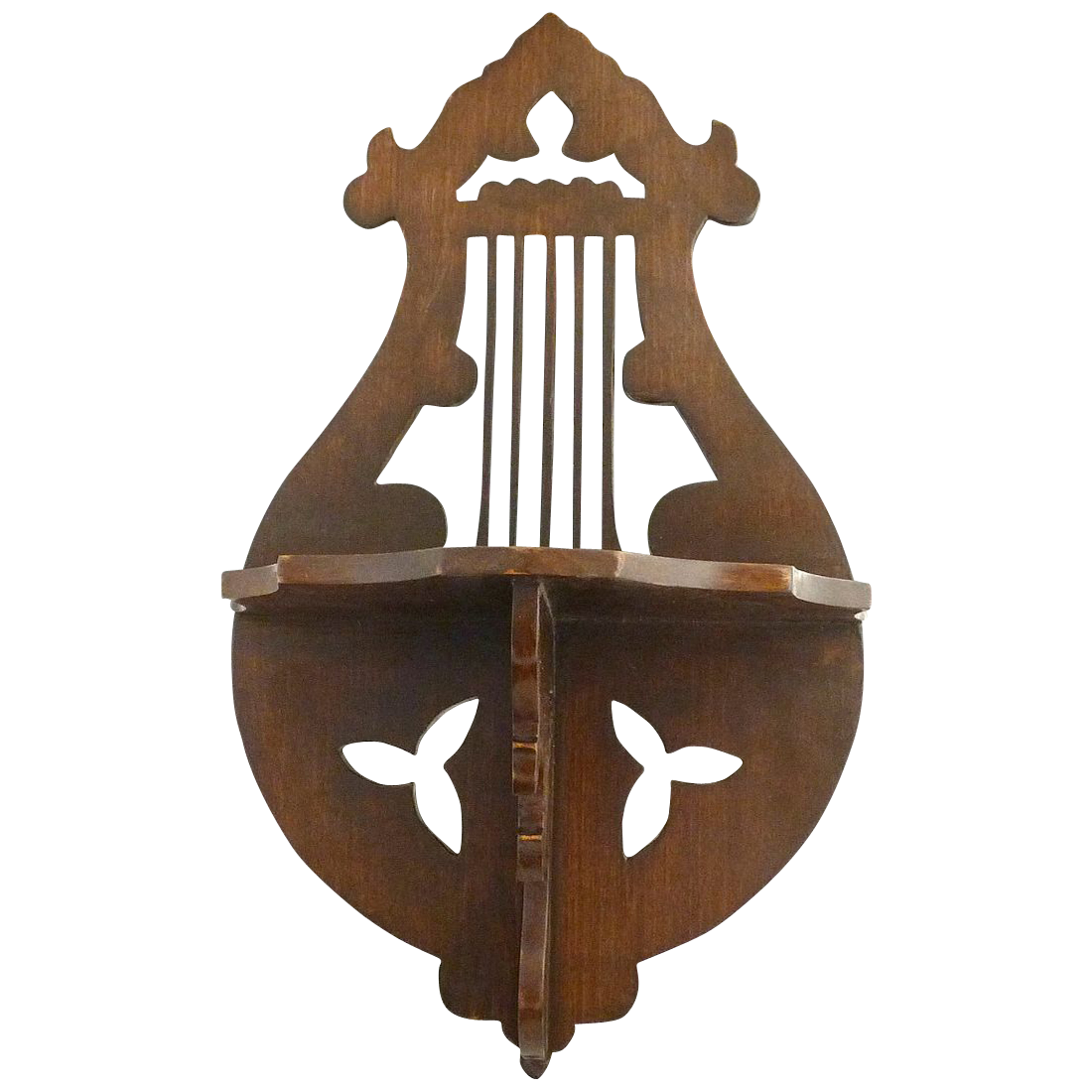 Music themed lyre what-not shelf